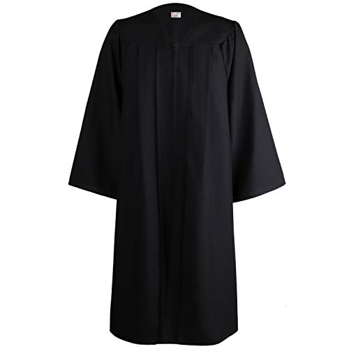 OSBO GradSeason Unisex Matte Robes for Graduation Gown, Choir Robes, Pulpit Robe and Pastor Black