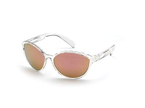 adidas Damen SP0012 Sonnenbrille, Crystal/Brown Mirror, 61