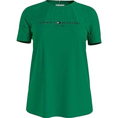 Tommy Hilfiger Th Ess Hilfiger C-nk Reg Tee Ss, Camiseta sin mangas Mujer a buen precio