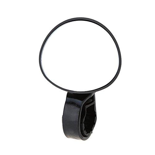 TOOGOO(R) Bike Retrovisore Supporto da Manubrio per Specchio retrovisore/Sicurezza Riflettente Specchio Convesso per MTB e Bici, Nero