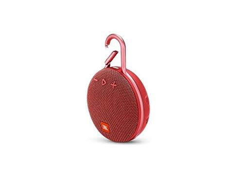 JBL Clip 3 Bluetooth Lautsprecher - Wasserdichte, tragbare Musikbox mit praktischem Karabiner - Bis zu 10 Stunden kabelloses Musik Streaming Rot