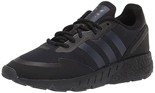 adidas Originals Men's Zx 1K Boost Sneaker, Black/Black Blue Metallic/Black, 13