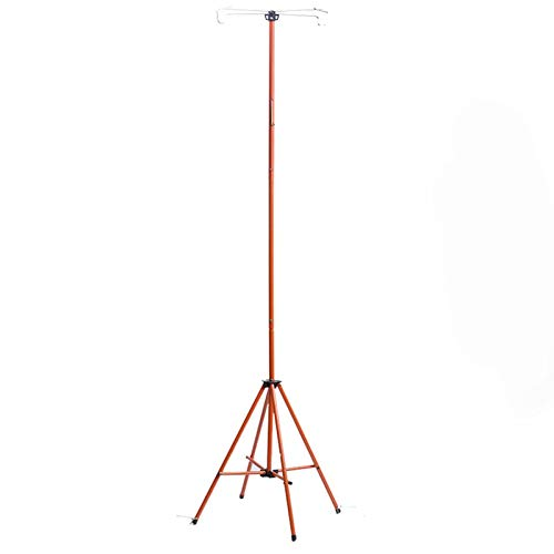 Medical Liquid Hook Rack, Foldable Iv Pole, Height Adjustable 80~210 Cm, Robust, Fast, Infusion Stretcher for Elderly Home Care,Hospital and Clinic