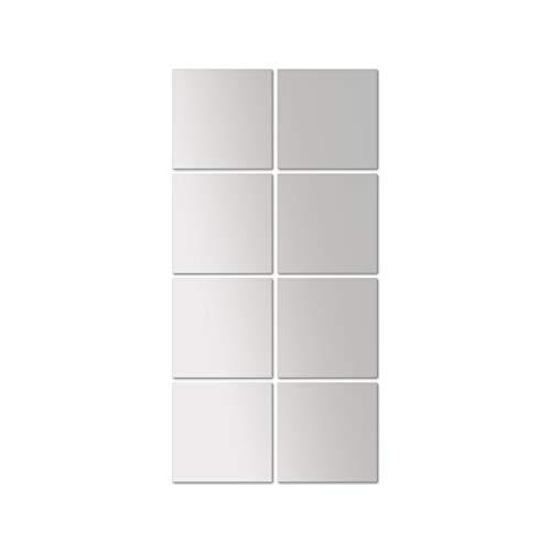 Wohaga 8er Set Spiegelfliesen \'Image 15\' Wanddekoration klar spiegelnd, ca. je 15x15cm