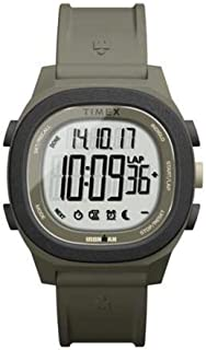 Timex Men's Digital Watch, Chronograph Display and Silicone Strap TW5M19400