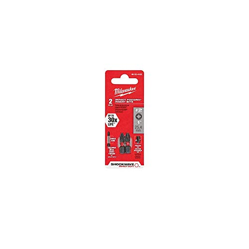 Milwaukee 48-32-4432 (3) 2pk 1in Impct Bit Pz2