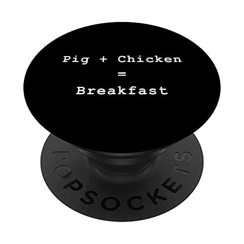 Pig Chicken Breakfast Scrum Lean Agile PM Funny PM Coach PopSockets PopGrip Intercambiable