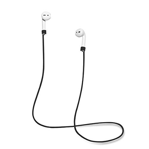 """HSKJU Strap for AirPods by   Smart Accessory – Never Lose Your AirPods   Connector Wire Cable Cord for AirPods Black - 22"""""""