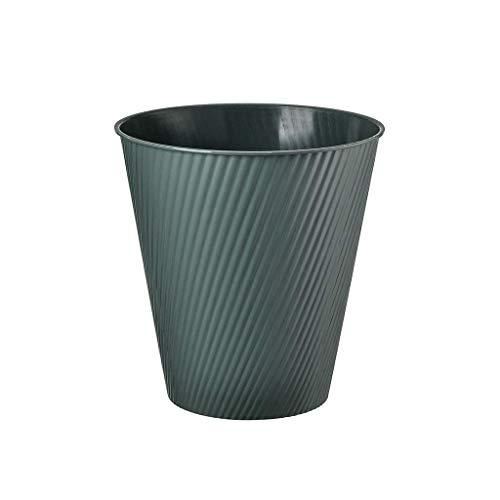 1yess Mülltonne Kunststoff Mülleimer Runde Abfall Mülleimer Schlafzimmer Einfache Papier Küche Badezimmer Müll Kann Mülleimer Mülleimer Abfallbehälter (Farbe: grau) (Color : Green)