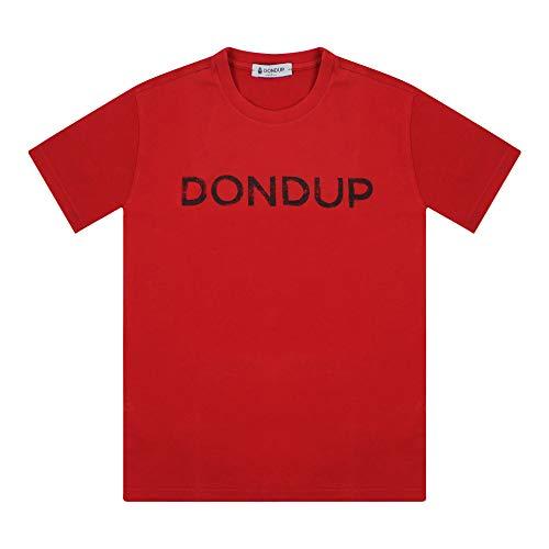 Dondup JY004B - Camiseta de verano para niño, color rojo rojo 10 Años