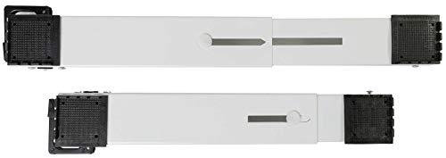 Transportroller Schienen für Kühlschränke Gefriertruhen Büro Möbel | 2 Einheiten | Bremssystem | belastbar bis 150 kg | made in Greece (Weiß)