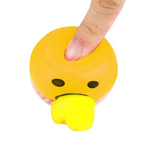 Finebuying 2 Stück Eigelb-Druck-Ball Kotzen mit Gelber Entlasten Sie Stress Spielzeug Spucken Eigelb Spielzeug Egg Yolk Stress Ball Spielzeug (Gelb)
