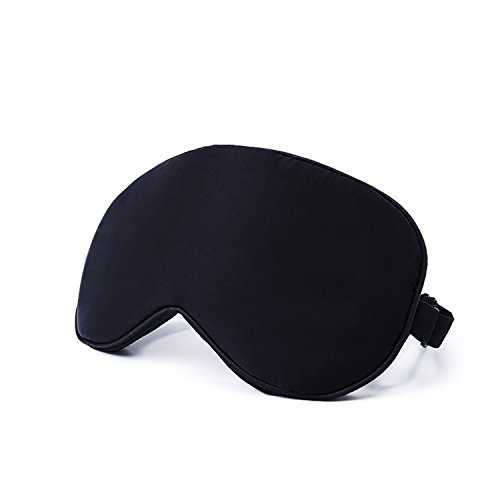 Natural Silk Sleep Mask & Blindfold - Super Smooth Eye Bag for Men & Women & Kids - Your Best Travel Sleeping Helper - Include Free Ear Plugs