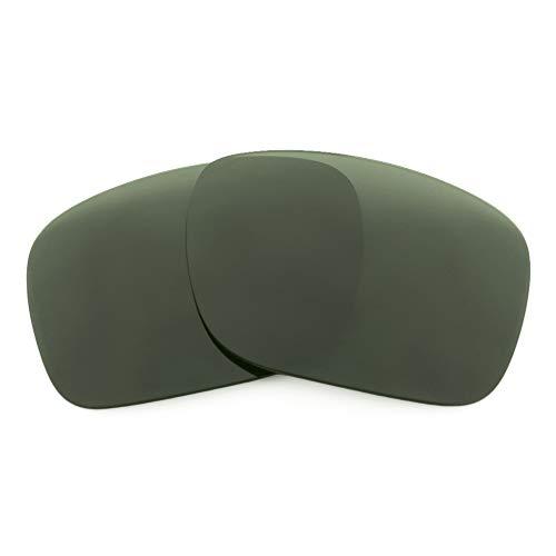 Revant Lentes de Repuesto Compatibles con Gafas de Sol Spy Optic Montana, Polarizados, Elite Gris Verde MirrorShield