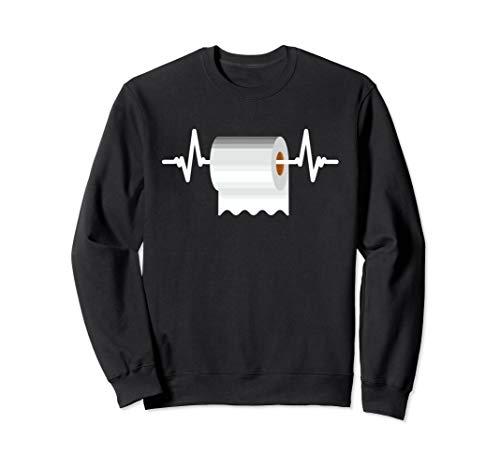 Mein Herz schlägt für Klopapier - Toilettenpapier Herzschlag Sweatshirt