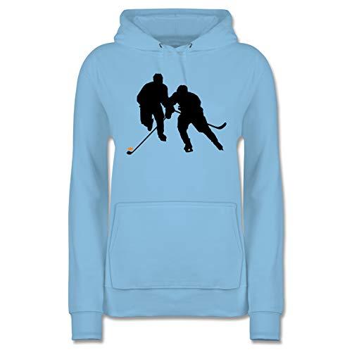 Eishockey - Eishockeyspieler - L - Hellblau - Eishockey Pulli Kinder - JH001F - Damen Hoodie und Kapuzenpullover für Frauen