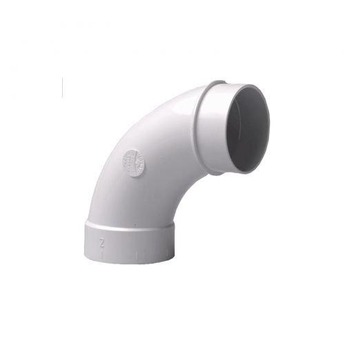 Bogen 90° Spigot für Zentralstaubsauger Vakuumrohrsystem, 2-Zoll (50,8mm)