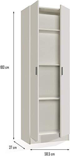 HABITMOBEL Mueble Multiuso Blanco 180 cm