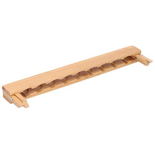 Qioniky Estantes del gabinete de Cocina, escurridor de Platos de bambú, Rejilla de Secado de Platos de bambú para Plato,(Bamboo Triangle Nine Grid Cup Holder)