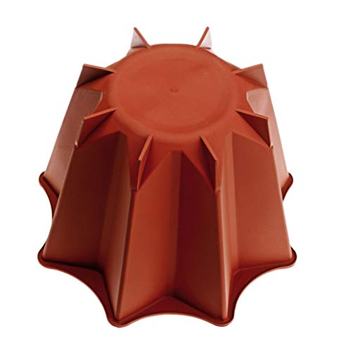 Cookware company Molde de pandoro - Silicona - Diá. 18.5 cm x 14 cm de Altura - Calidad Garantizada