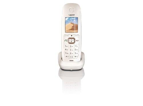 Gigaset Dune CL540H Dect-Schnurlostelefon (zusätzliches Mobilteil 4,6 cm (1,8 Zoll) TFT-Farbdisplay) perlmutt/braun