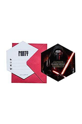 6 Stück Einladungskarten STAR WARS Episode 7 The Force Awakens - Das Erwachen der Macht