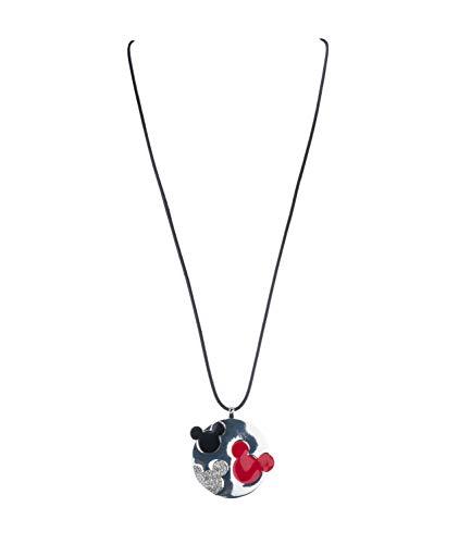 SIX Halskette mit Mickey Mouse-Prägungen auf dem runden Metallanhänger (790-787)