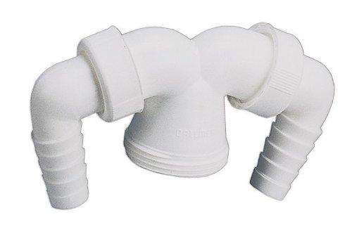 Geräte-Doppelanschluss für Verstellrohre | Geräteanschluss | Kunststoff | Küchenspüle | 1 1/2 x 20 - 24 mm
