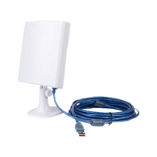 PIXNOR USB Wifi Antenne lange Reihe USB powered Wireless Booster Verstärker mit 5m Kabel für WindowsXP/Vista/7