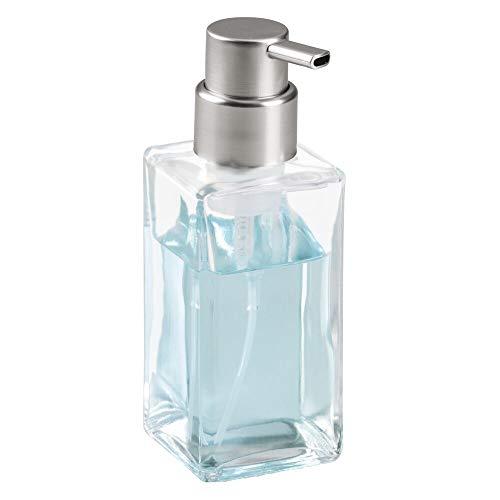 mDesign Schaumseifenspender - Pumpseifenspender aus Glas - ideal für Seife - 414 ml Volumen - durchsichtig