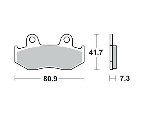 Garnitures de frein TRW MCB 534 pour HONDA XL 250 R MD11 84-93 (avant)