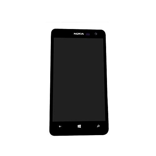 UU FIX LCD Touch Panel, per Nokia Lumia 625 (Include Cornice dello Schermo), Vetro Frontale LCD Display Touch Screen digitalizzatore Assembly Nero Pezzo di Ricambio con Strumenti