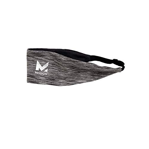 Mission Lockdown Cooling Headband- Adjustable- Charcoal Space Dye