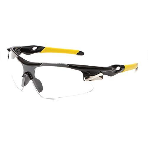 Ciclismo Gafas Deportes de los Hombres Gafas de Sol Gafas de Camino de la Bicicleta de montaña Ciclismo Montar Bici de MTB Gafas Gafas de Sol (Color : Yellow White)