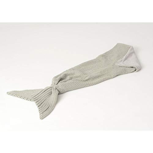 Plaid Sirène, de couleur grise, collection Les Petits, Amadeus