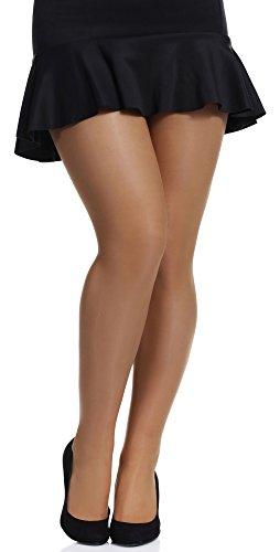 Merry Style Collant Donna Plus Size MS 161 20 DEN (Neutro, XXL)