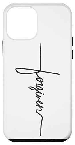 iPhone 12 mini Forgiven Handwriting Cross Tattoo Faith Hope Love Christian Case