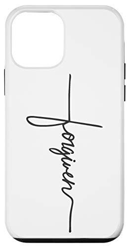 iPhone 12 mini Forgiven Handwriting Cross Tattoo Faith Hope Love Christian Case