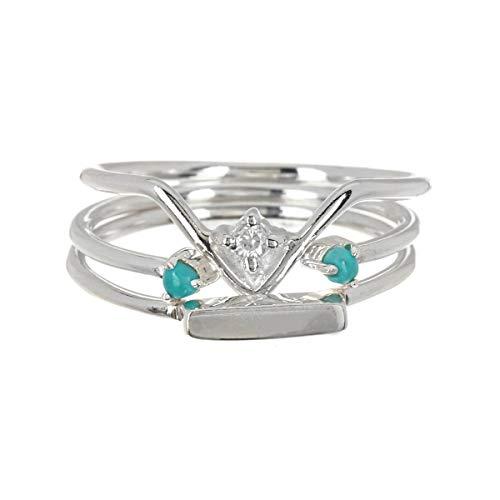 Pura Vida Silver Gem Stackers Ring - .925 Sterling Silver, Silver Plating...