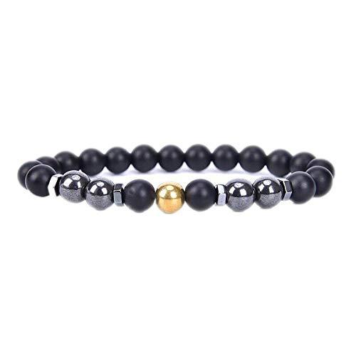 Anti-Swelling Black Obsidian Anklet,Black Obsidian Round Bead Gemstone Anklet,Natural Stone Prayer Mala Beads Black Obsidian Beaded Bracelet Adjustable (Gold, 1 Pcs)