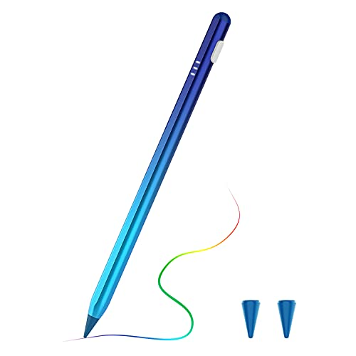 TiMOVO Lápiz Stylus Compatible con iPad, iPencil 2ª con Rechazo de Palma Inclinación Magnético Compatible con iPad Pro 11'/12,9' (2018-2021), iPad 9ª/8ª/7ª/6ª,iPad Mini 6ª/5ª, iPad Air 4ª/3ª, Azul