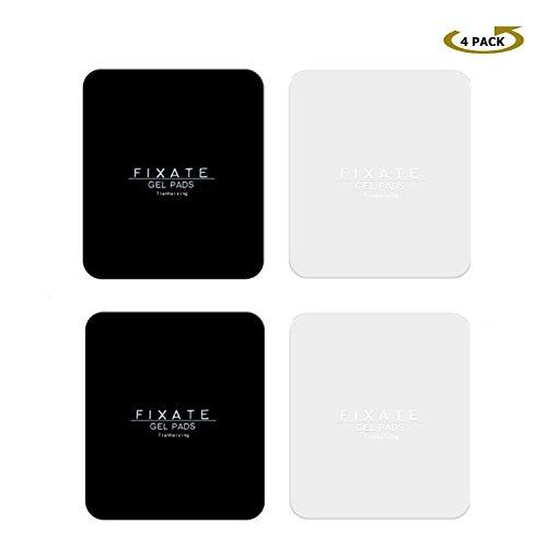 Tianhaixing Fixate Gel Pads Haftende Wiederverwendbare AntiRutsch Matten Klebepads mit zuverlässiger Haftung, erhältlich für wie Armaturenbrett, Handyhalter und Ablage [4er Pack/Quadrat]
