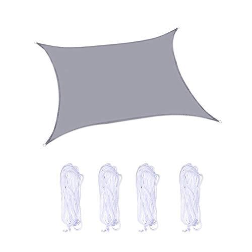 W.Z.H.H.H Schattensegel Terrasse im Freien Garten-Beschattung Platz Markise Sonnenschutz Net UV-Block-Farbton-Segel Perfekt 6 Farbe Sonnenschutztuch. (Color : Light Grey, Size : 10x10ft)