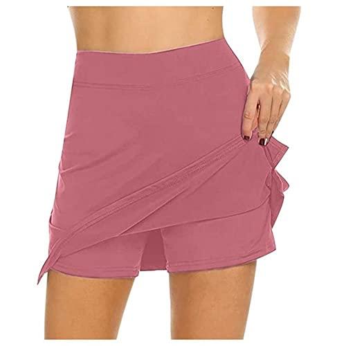 XMYNB Falda Deportiva Rendimiento Activo para Mujer Skort Shorts Ligero Falda para Correr Tenis Golf Sport Summer Faldas De Verano
