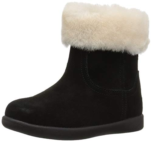 Infant Girl Black Fur Boots