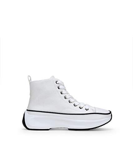 BOSANOVA Zapatillas Negras con Plataforma Blanco 36