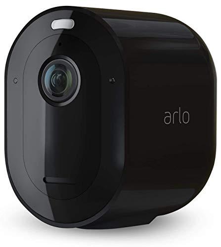 Arlo Pro4 Spotlight WLAN Überwachungskamera   Kabellos, Innen / Aussen, 2K, Farbnachtsicht, Bewegungsmelder, 6 Monate Akku, 2-Wege Audio, direkte WLAN Verbindung, kein Hub benötigt, VMC4050B, Schwarz
