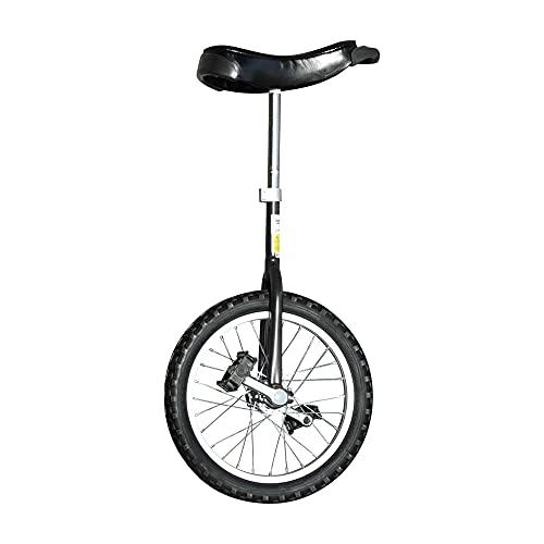 Zeekio Unifly 16' Beginner Training Unicycle - Tubular Oval Steel, Complete Set, [Black]