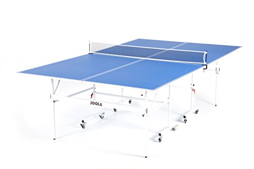 JOOLA Quadri - Indoor 15mm Ping Pong Table with Quick Clamp Ping Pong Net Set - Single Player Playback Mode - Regulation Size Table Tennis Table - Compact Storage Ping Pong Table