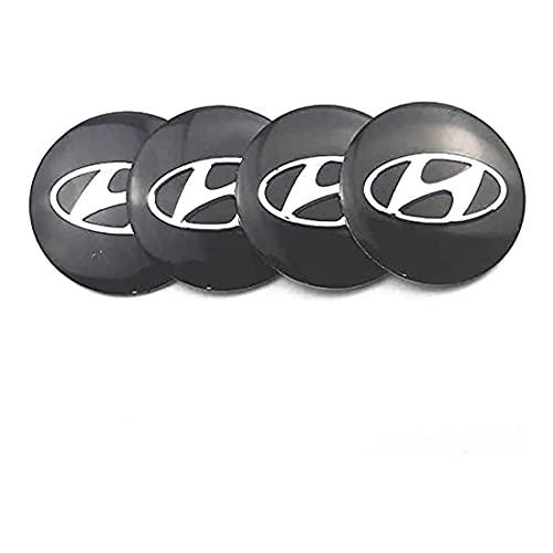 YSTC 4Pcs 56mm Tapas Centrales Aleación Tapacubos para Hyundai I10 I20 I30 I40 IX20 IX35, Juego de Tapacubos Prueba de Polvo, ProteccióN contra El óXido Hub Caps Center Auto Covers